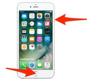Zrzut ekranu iPhone
