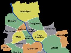Warszawa dzielnice